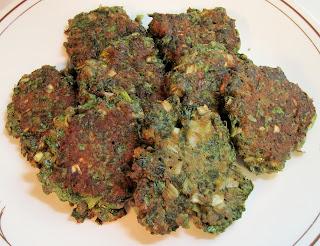 Radish greens latke pancakes