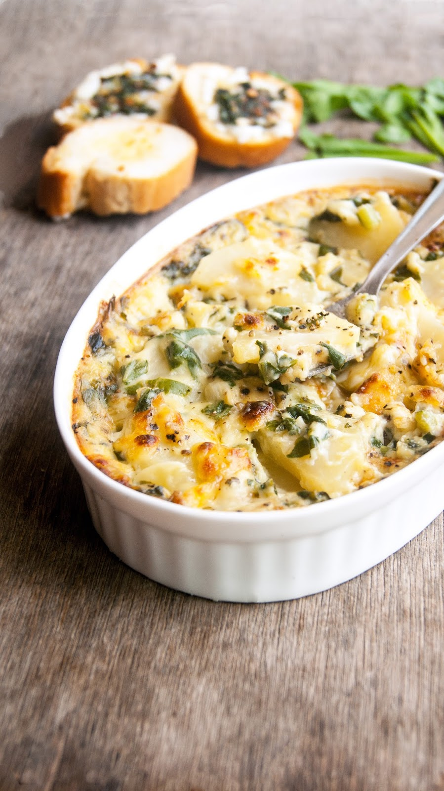 Always Hungry: Spinach and Potatoes Au Gratin