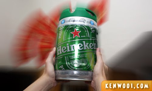 heineken barrel