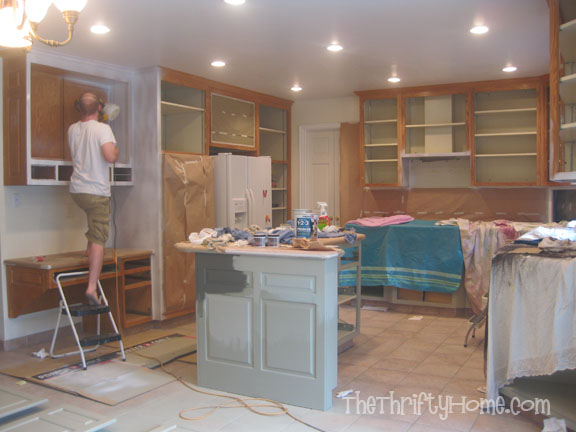 *The Thrifty Home: Kitchen Remodel   Painting Cabinets