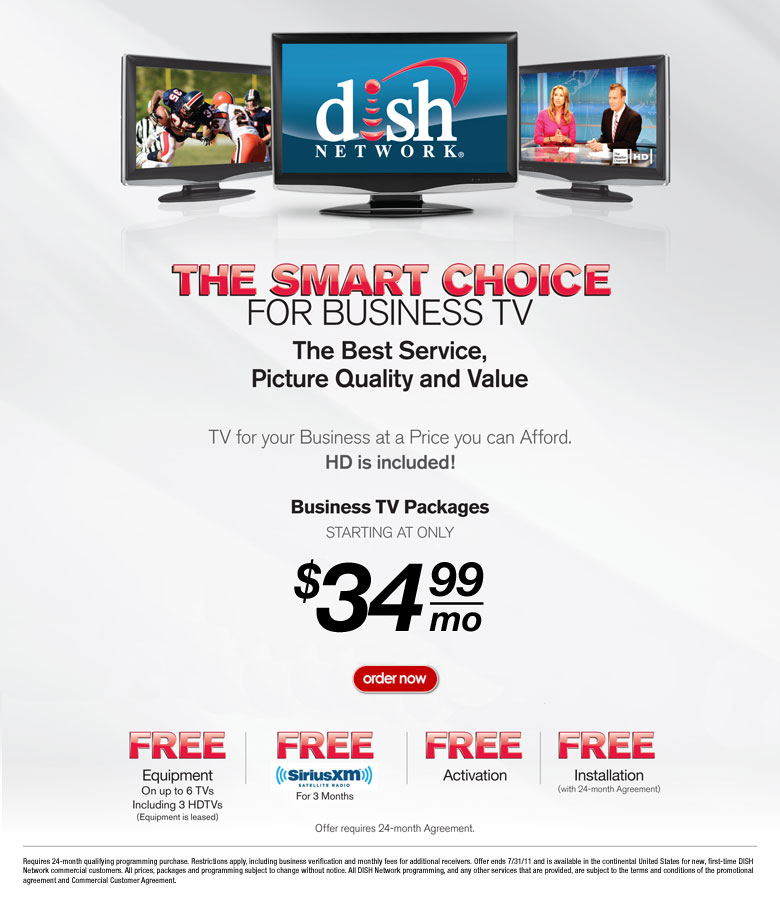 dish network commercial-dish for business