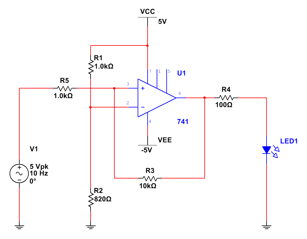 The Answer Is 42 How To Make An Op Amp Into A Comparator Lm741 Circuit If We Re Run Simulation Can See Results From Oscilloscope Screen