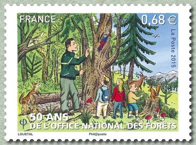 Les beaux timbres fran ais des ann es 2000 50 ans de l 39 office national des for ts - Office national des forets ...