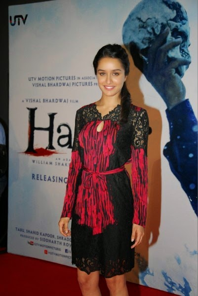 Shraddha Kapoor at Haider trailer launch