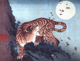 Hokusai: Tiikeri ja täysikuu