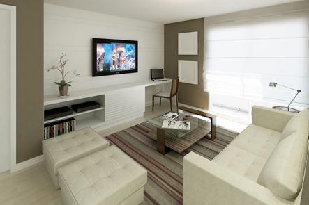 Escrit rio na sala pode reciclar e decorar blog de for Sala de estar pequena con escritorio