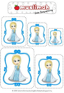 Disney Muslimah Frozen Anna Size Sequencing