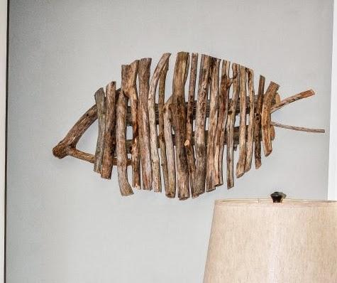 Amazing driftwood fish