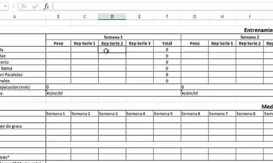 Excel que mide el sobrentrenameinto, estancamiento y súper