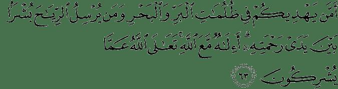 Surat An Naml ayat 63