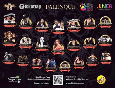 programa palenque feria león 2015 artistas