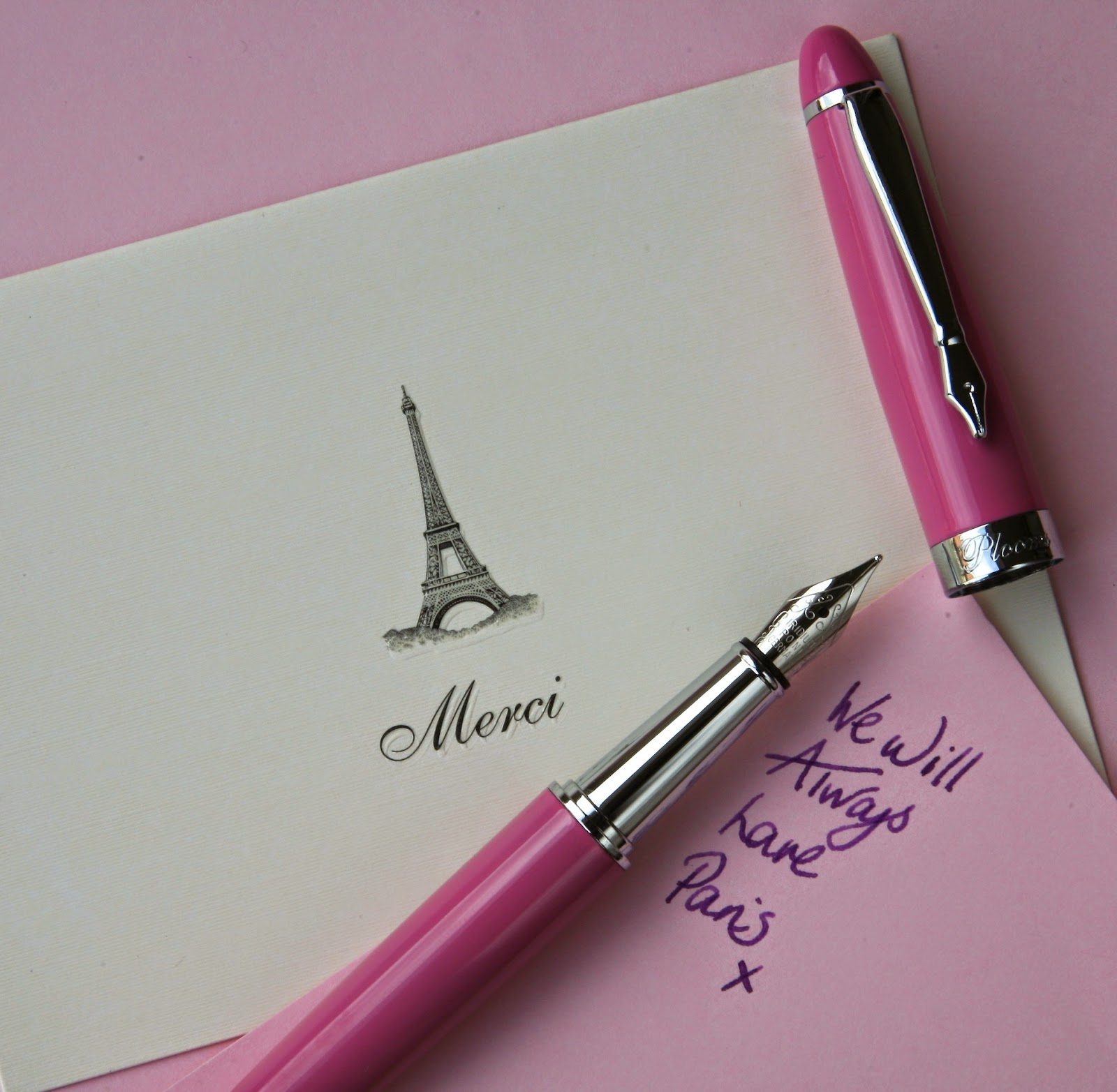 PLOOMS pink fountain pen