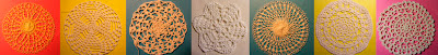 Doilies in crochet and Tennerife lace