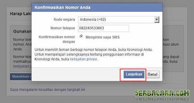 Kode Konfirmasi Facebook