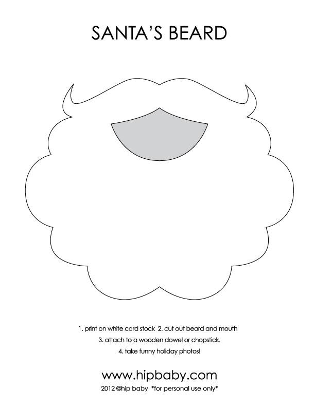 Santa claus beard template new calendar template site