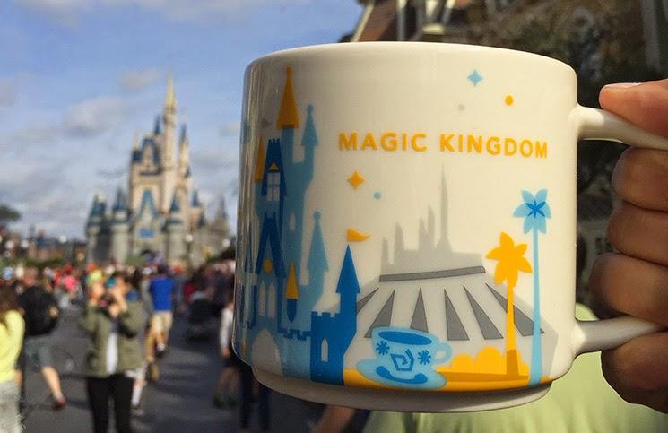 Canecas da Disney no Starbucks dos Parques em Orlando