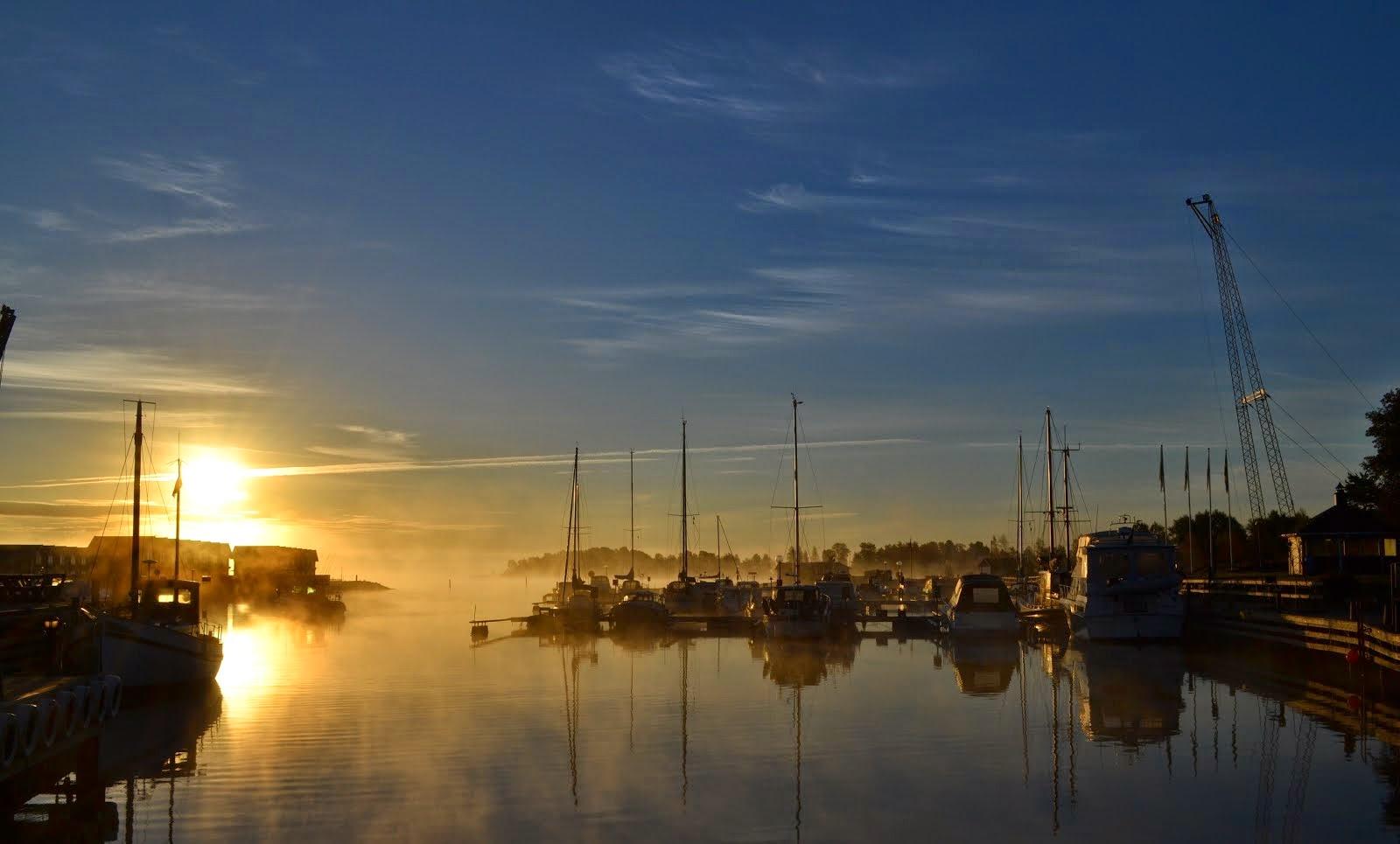 Fin Morgon i Hamnen