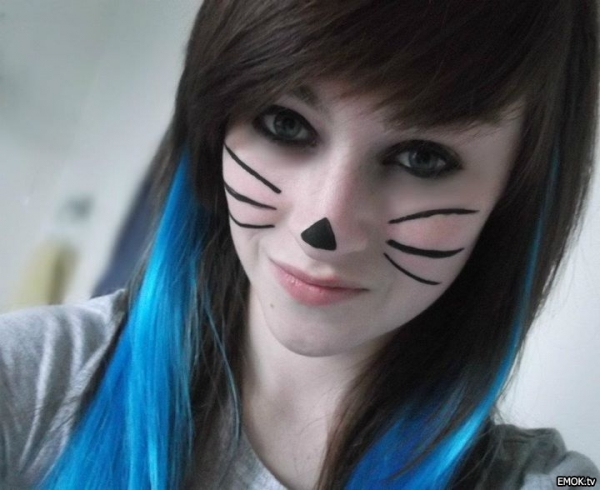 cute emo hairstyles long hair
