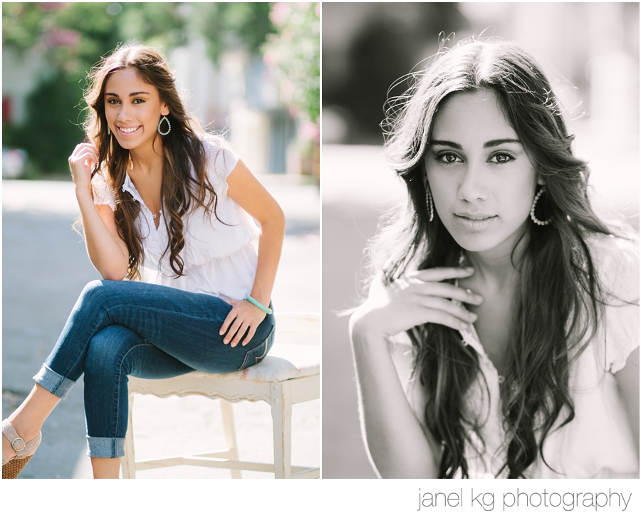 A favorite senior girl pose...simply beautiful!  Sacramento senior portrait photographer, Janel KG Photography