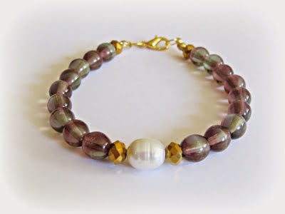 image two cheeky monkeys contrasts bracelet beaded tutorial diy freshwater pearl faceted beads