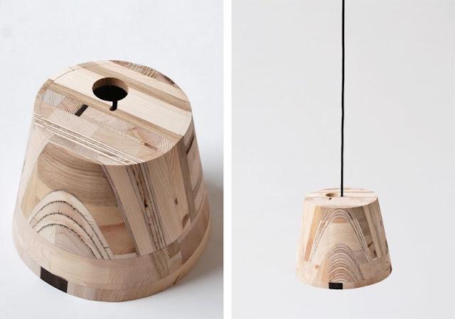L mparas de madera espacios en madera - Lampara de pie madera ...