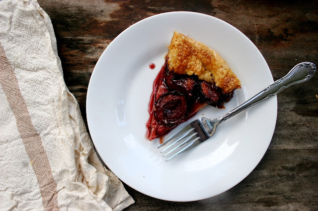 Italian Plum & Port Crostata Slice