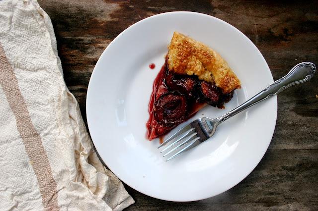 Italian Plum & Port Crostata Slice