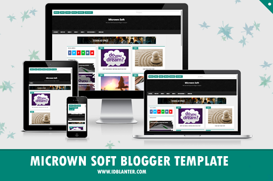 Micrown Soft Grid Blogger Theme