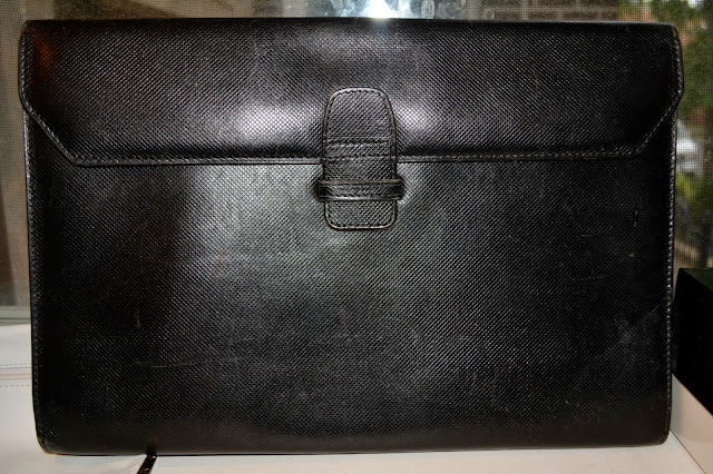 thrifted bottega veneta clutch from estate sale $20