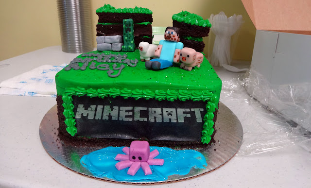 birthday cakes minecraft