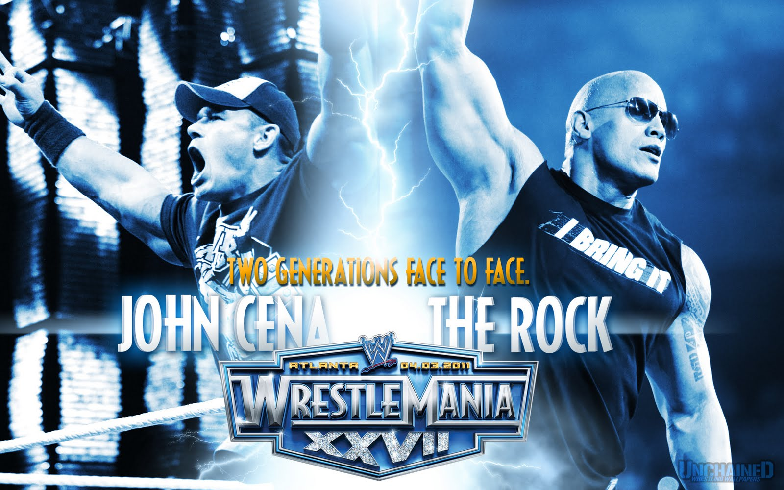 rock vs john cena wallpapers | wallpapers