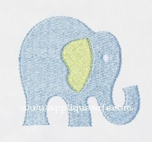 Mini Embroidered Elephant