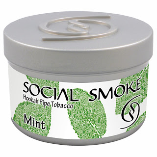 SOCIAL SMOKE 'MINT' FLAVOR HOOKAH SHISHA TOBACCO