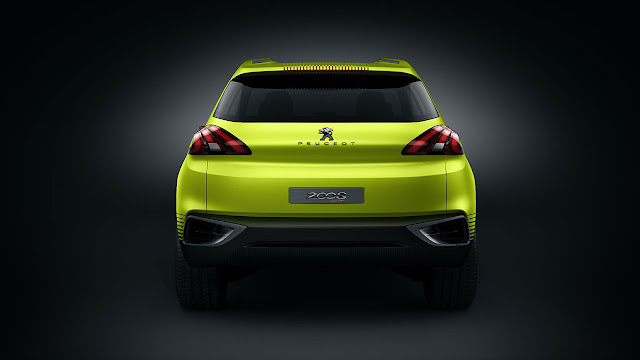 The Peugeot 2008 Concep back