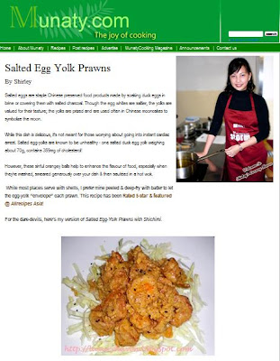 munaty salted egg yolk prawn recipe