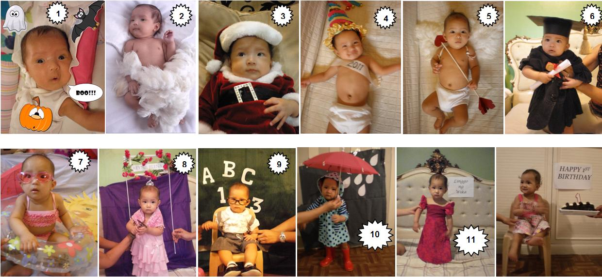 Baby Photo Calendar Ideas : Lei loves life happy st month jd