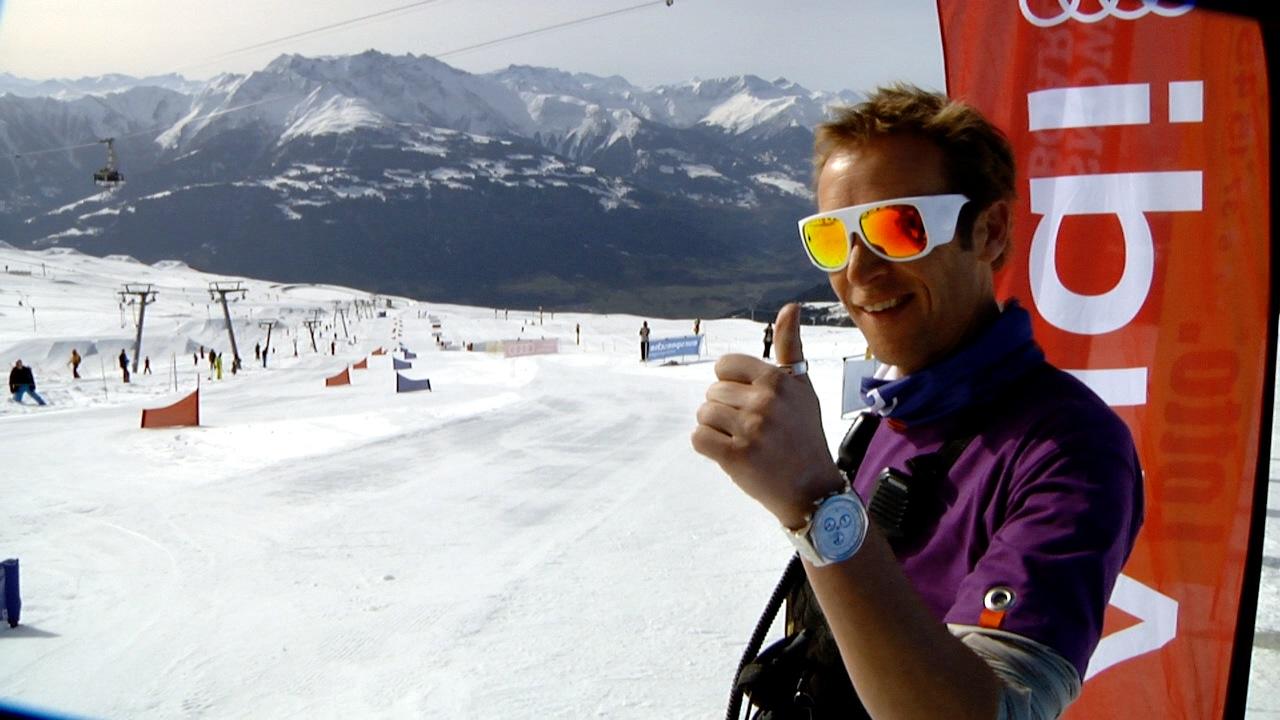 Snowfest gaat helemaal los in Laax. Op dag 1 was er de slalom wedstrijd.