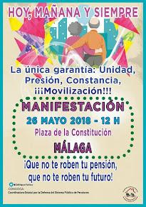 Manifestación en defensa de las pensiones públicas