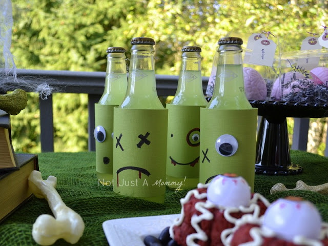 zombie party treat table drink bottles