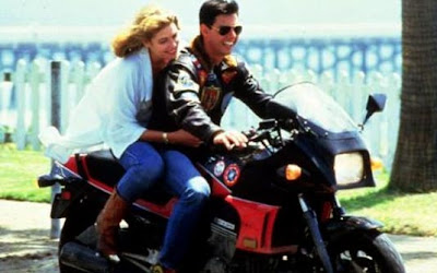 'Top Gun - Ases indomáveis' (1986)  Moto: Kawasaki Ninja 900  Ator: Tom Cruise