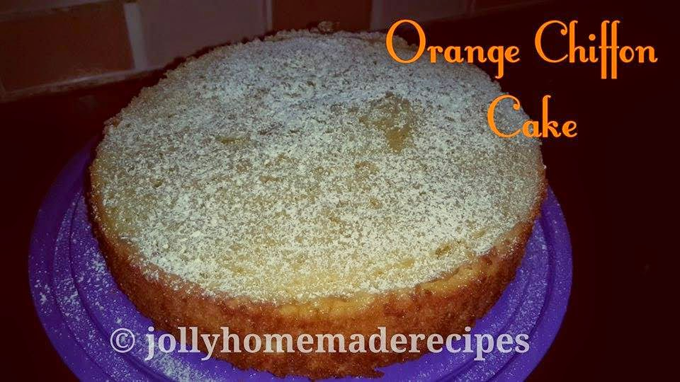 Orange Cake Indian Recipe