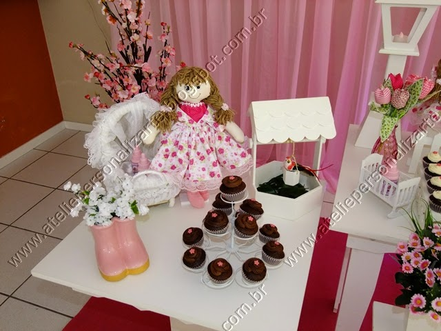 Decoração chá de bebê Bonecas de Pano provençal