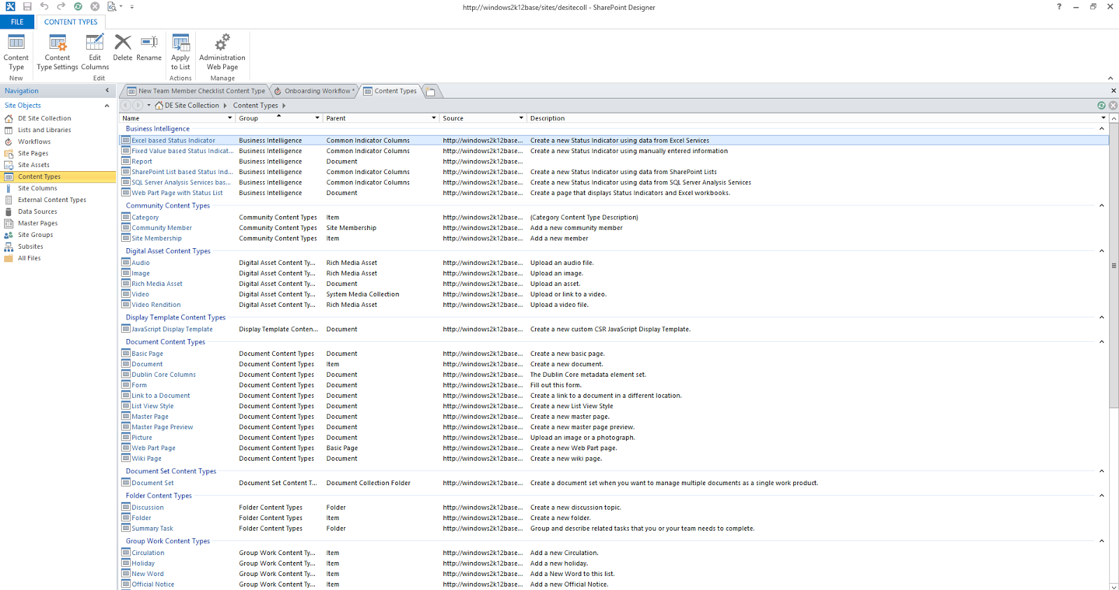 Living and breathing the world of microsoft creating a for Document library content type