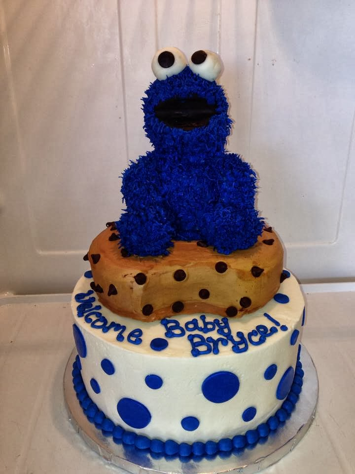 Cookie Monster Themed Shower