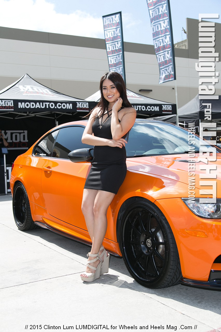 sandra mod com Beautiful Cover Model Sandra Wong for Mod Auto at the HRE Wheels Open House  by Clinton Lum @calibre68 @thesandrawong