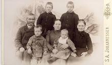 Familien Vaagø i Bodø ca 1902
