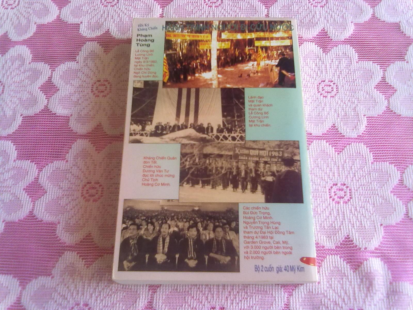 Hình Bìa Sau Quyển 1 & Hồi Ký Hành Trình NgườI Đi Cứu Nước