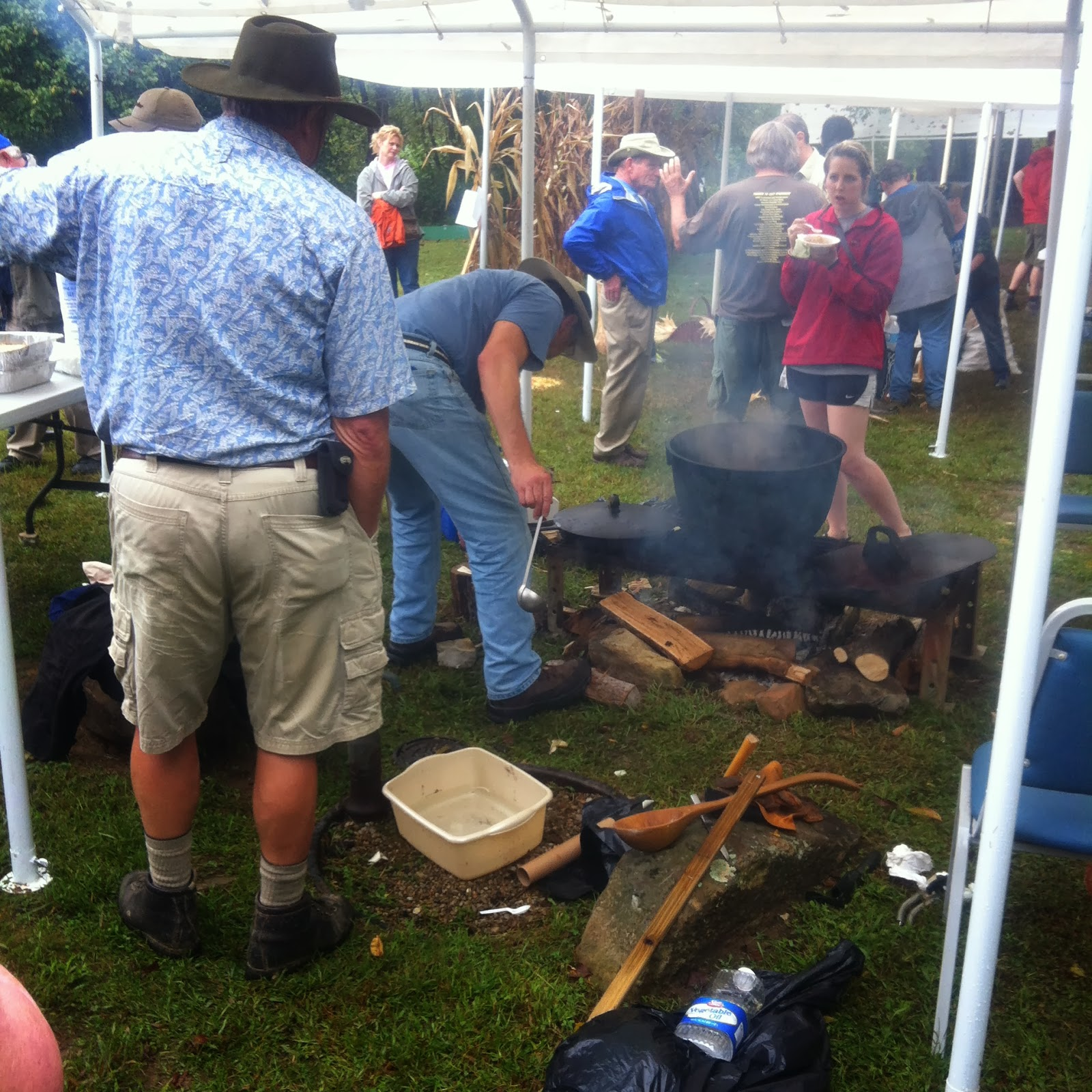 Learning about historic cooking at Living Archaeology Weekend 2013