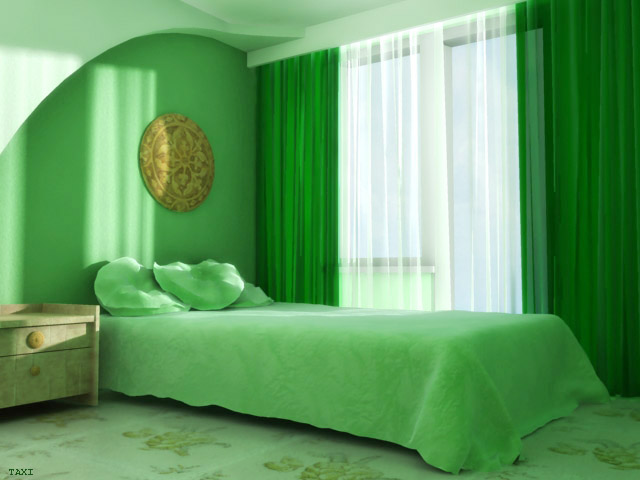 Casas decoracion x el dormitorio de color verde