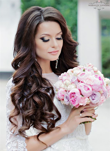amazing curly bridal hairstyles